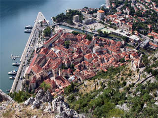 Kotor City from the wall